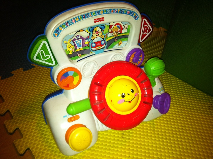 Fisher Price car cockpit