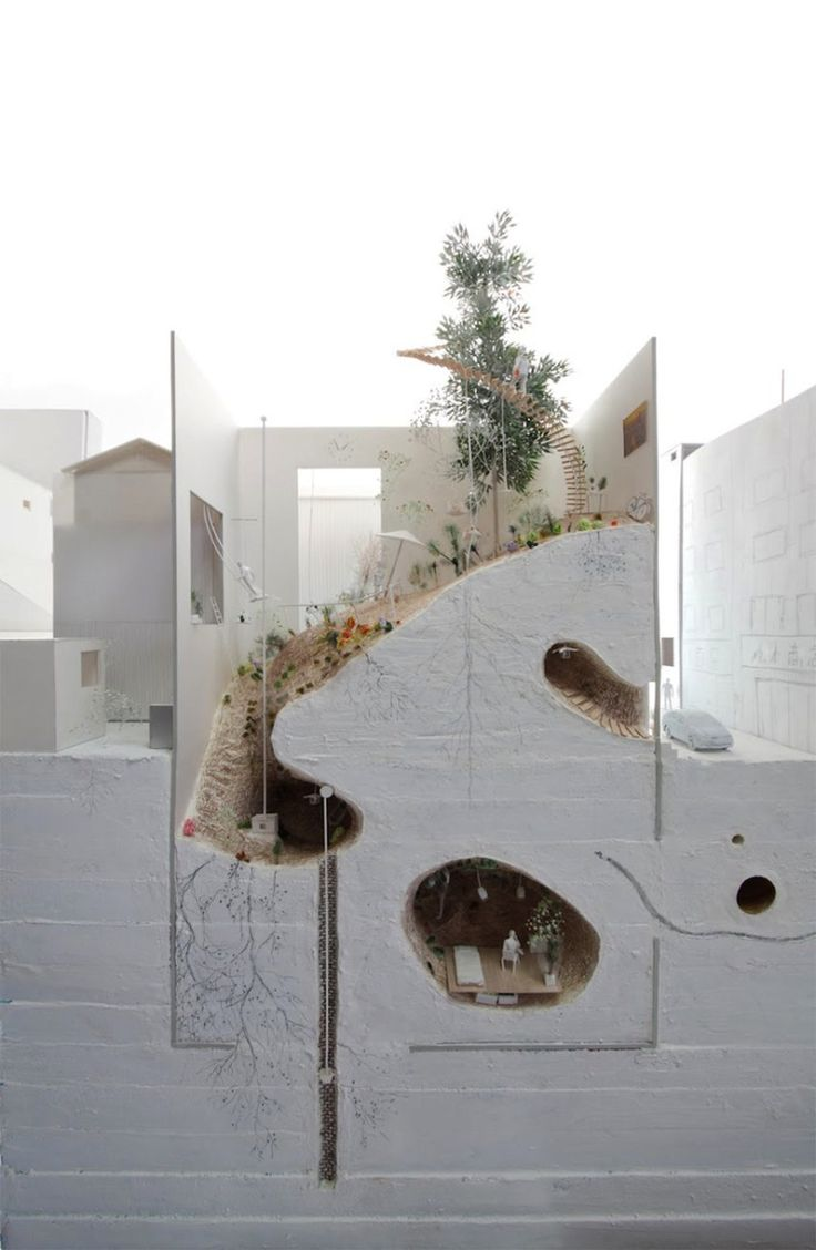 Ikimono Architects Model Eats Ground Project