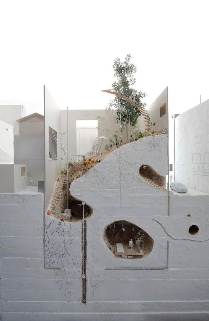 Ikimono Architects Model Eats Ground Project
