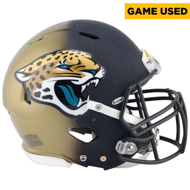Brandon Linder Jacksonville Jaguars Game-Used #65 Black and Gold Helmet from the 2016 NFL Season