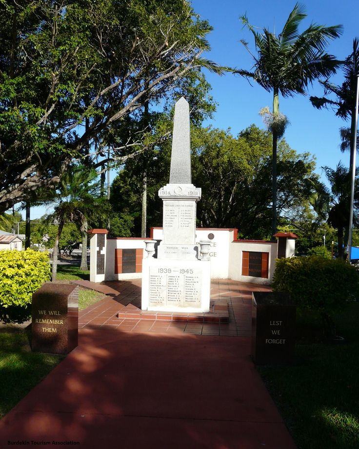 War Memorial. Anzac Park, Ayr, North Queensland.