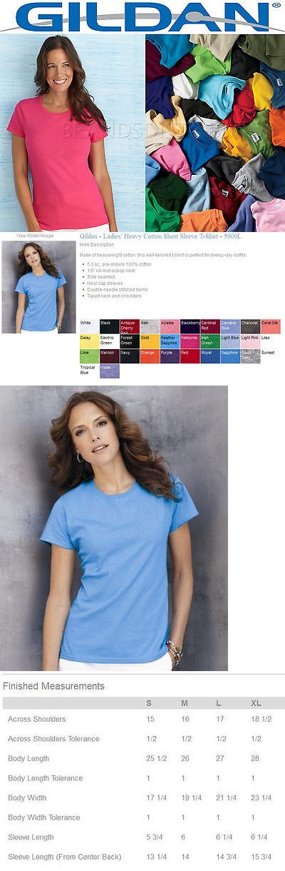 Shirts Tops 50990: 100 Gildan Women S Any Color Blank T Shirts Bulk Lot S-Xl Wholesale Plain Ladies -> BUY IT NOW ONLY: $304.95 on eBay!