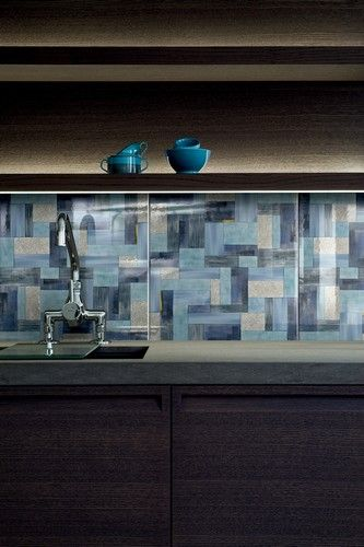 "decorative ceramic tile backsplash. ""Wallpaper"" by Bardelli"