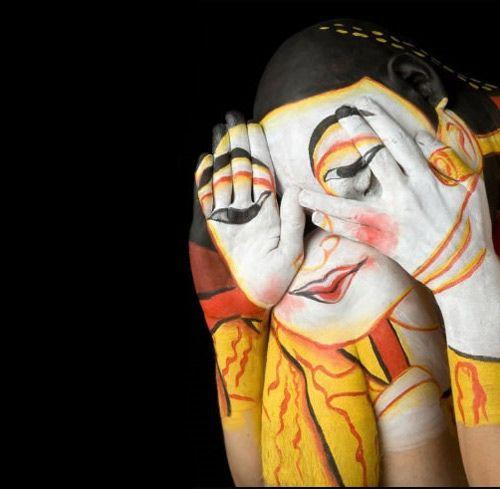 #Body Paint, #Body Art #Peek-a-boo: Hand, Body Paintings, Body Painting, Lanna Woman, Body Art, Bodyart