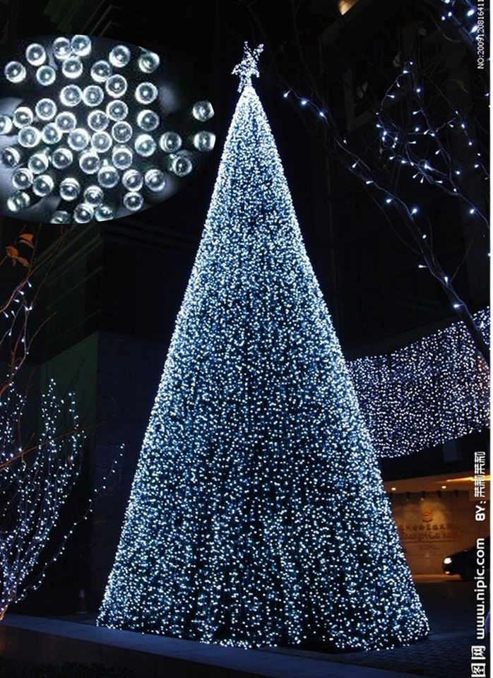 22m 200led white solar lights christmas party outdoor indoor decoration bulb christmas. Black Bedroom Furniture Sets. Home Design Ideas