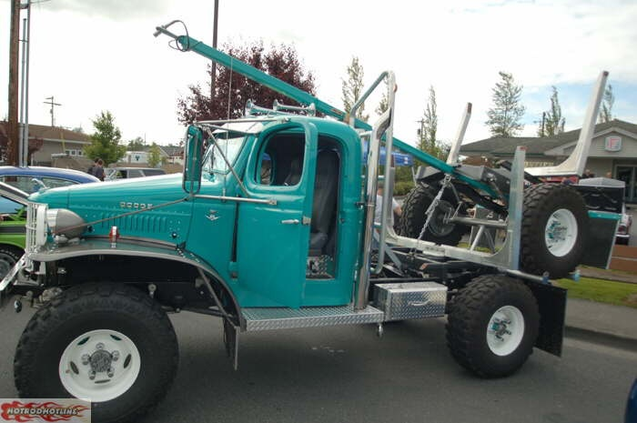 Dodge Power Wagon logging rig. This will get up a few of our muddy roads.