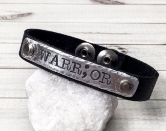 Semicolon Bracelet - Warrior Bracelet - Suicide Awareness - Story Isn't Over - Leather Cuff Bracelet