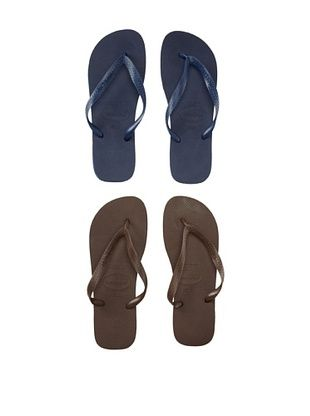31% OFF Havaianas Unisex Flip Flop - 2 Pack (Navy/Brown)