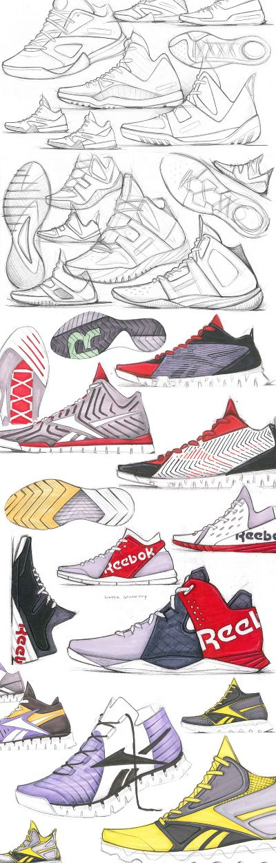 Footwear Sketches - dylan's work #id #industrial #design #product #sketch
