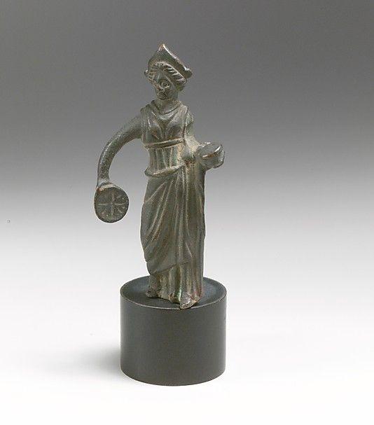 Bronze statuette of a goddess  Period: Hellenistic Date: ca. 3rd-1st century B.C. Culture: Italic Medium: Bronze