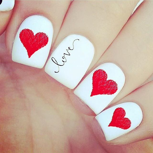 100 Crush-Worthy Valentine's Day Nail Art Ideas - Best 25+ Valentine Day Nails Ideas On Pinterest Valentine's Day