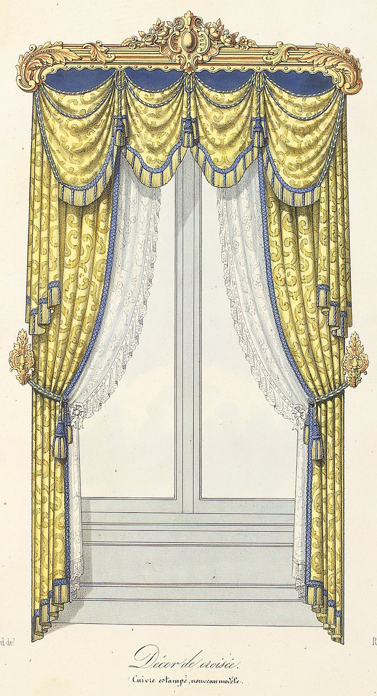 Victorian Style Window Dressing Drapes Window