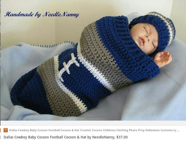 Dallas Cowboys cocoon & hat