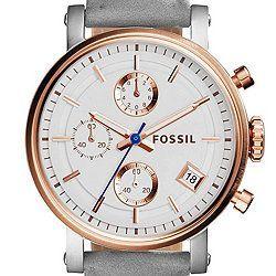 nice Montre pour femme : Original Boyfriend Sport Chronograph Graystone Leather Watch...