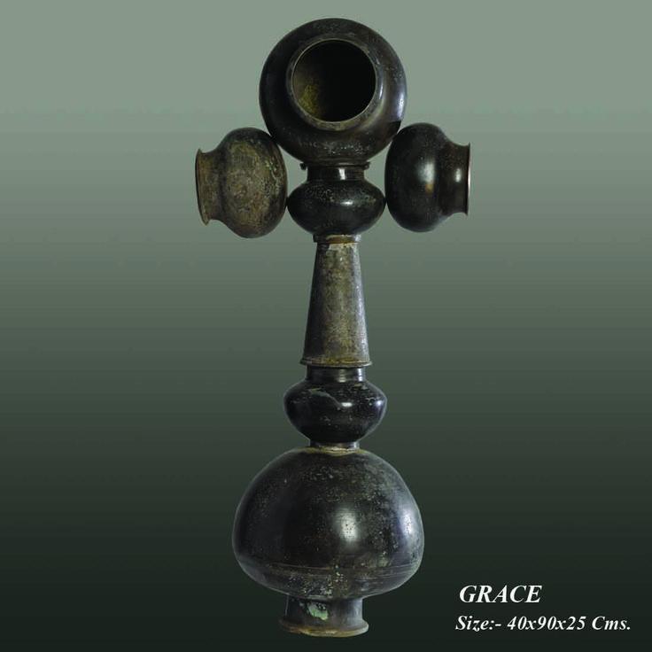Metal Sculpture:- Grace  Created by:- Neeraj Gupta   Medium:- Metal Size:- 40x90x25Cms Price on Demand