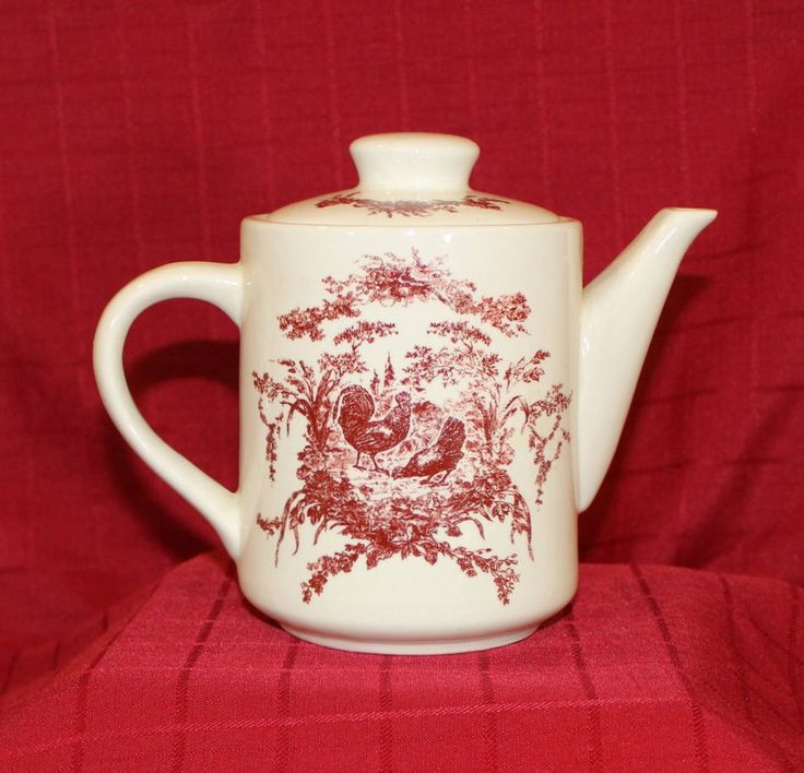 Vintage California Pantry Red Rooster Teapot by LoneStaRCottage on Etsy https://www.etsy.com/listing/513027472/vintage-california-pantry-red-rooster