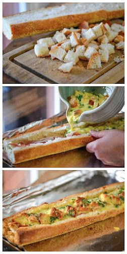 Baked Omelets in Bread Recipe