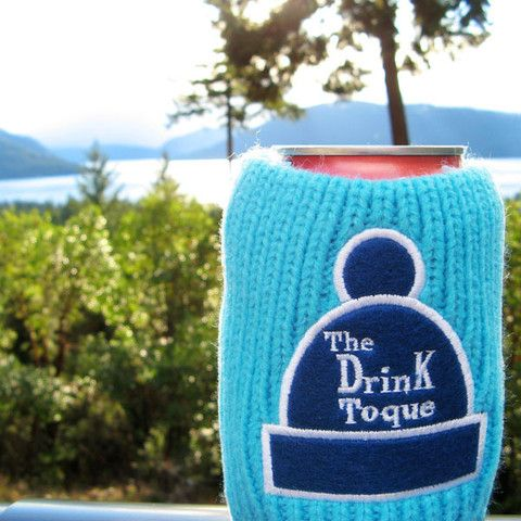 The Drink Toque - Berry Punch  Classic, vintage-style, knit koozie. Iconically Canadian.