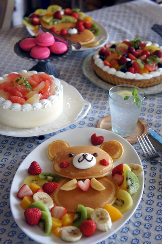 It is surrounded by fruit ♪ bear pancake - D0210450 16074761 -Hoppe and ribbons with fruit! Surrounded by colorful fruit bear chan of pancake It is happy ♪ - Source: Niconicoma.Exblog.Jp