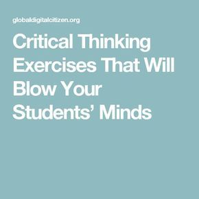 Nutrition critical thinking exercises | Persuasive/opinion