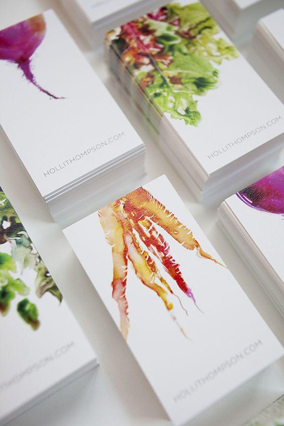 Seasonal Veggie Business Cards / Viewers Like You #Logo #Stationary #Illustration