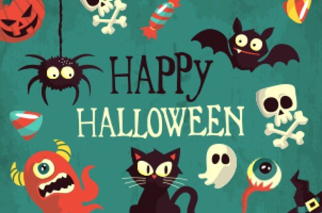 A new mix of Halloween vector art and Halloween vector graphics with spiders, bats, skulls, cats, monsters, candy and many more...