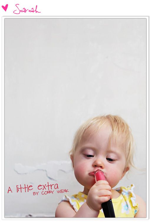 Beautiful Girl! Amazing photo with a little extra! (Down Syndrome) Made by Conny Wenk.