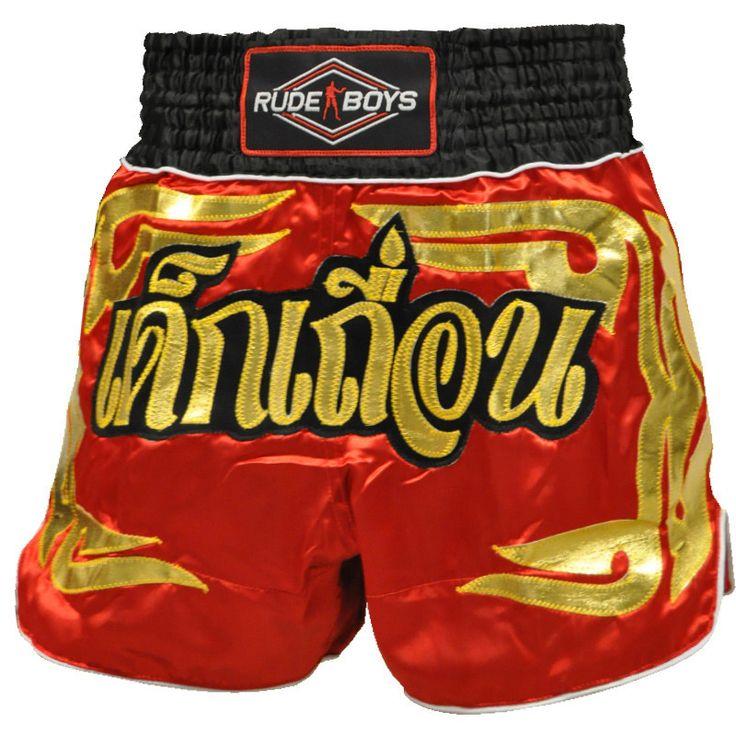 Short Muay Thai Rude Boys GOLDEN