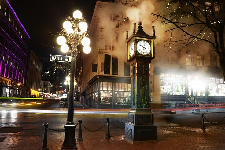 The steam powered clock in Gastown, #Vancouver, British Columbia   How to make the most of an activity based trip to British Columbia   Weather2Travel.com #bc #canada #travel #adventure #hiking