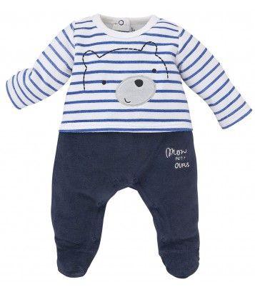 Pyjama bébé marine Sucre d'Orge