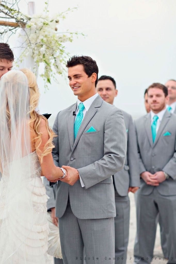 Love the colors for the groomsmen