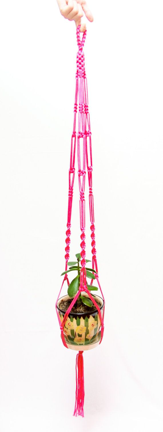 Ceiling Plant Hanger / Gardening Gift / Macrame plant hanger / Hanging planter / Home Decor / Garden Decorstions / Wall Planter / Rope Planter / Flower Pot Holder #macrame #decor #plant #planter #flower #homedecor #walldecor #gardening #giftideas