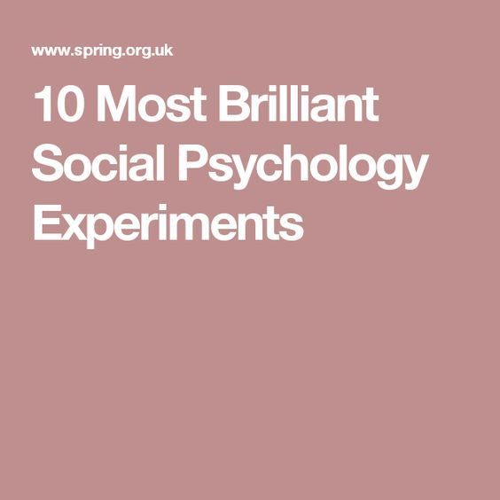 10 Most Brilliant Social Psychology Experiments