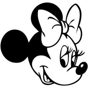 diy disney mickey heads | Disney Minnie Mouse Head 8 Inch Vinyl Decal Sticker White