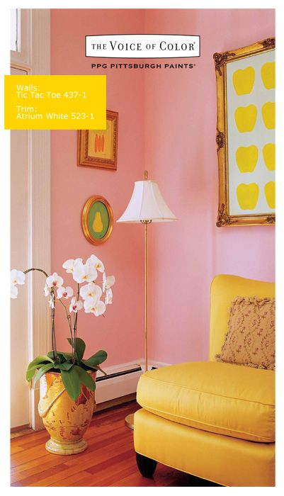 38 Best Images About Pink Paint Color Inspiration On