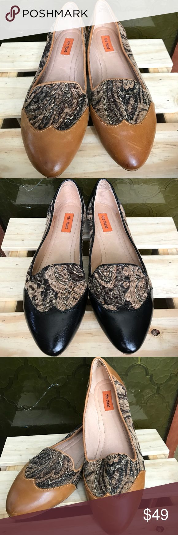 Miz Mooz 🌸BOGO🌸 Wingtip Leather Paloma Flats 7 🌷Springtime sale!🌷 Two pairs for the price of one. Never worn. Paloma flats by Miz Mooz. Size 7. Fits like a 6W-6.5. Hidden sliver wedge. Cushioned insole. Leather and embroidered exterior, leather interior, man made sole. Wingtip design. (Brown pair is slightly distressed) The most gorgeous bohemian flats, with an English Rose flair. Dress them up or down. 💁🏻🌹 Miz Mooz Shoes Flats & Loafers