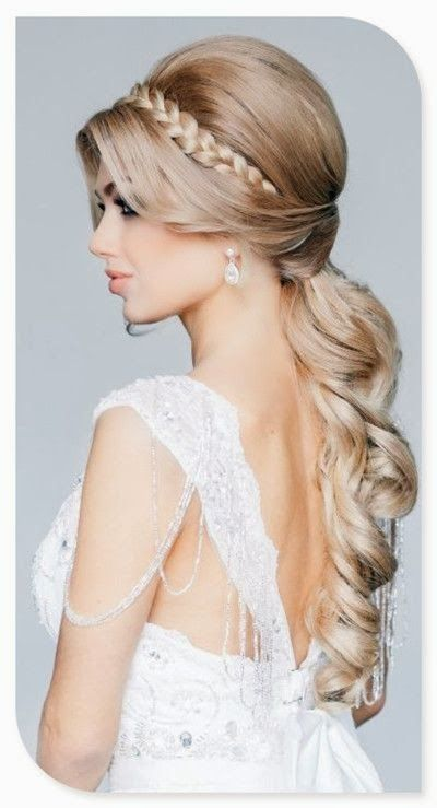 Wedding Hair: Braids and Backless Wedding Dresses