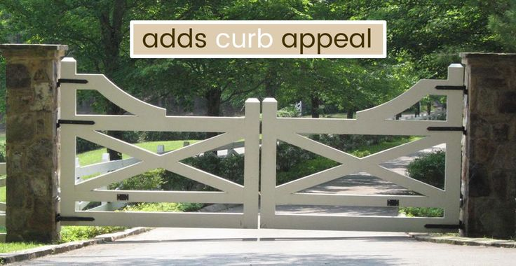 Wrought Iron Driveway Gates and Fence, Automatic Gate Opener ...