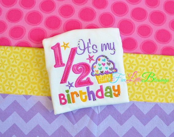 Happy 1/2 Birthday - it's my half birthday - Birthday Princess - by 5littleblessings, $21.00