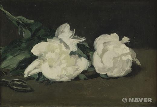 에두아르 마네 '흰 모란꽃 가지와 화훼가위' 1864년 오르세 미술관 소장