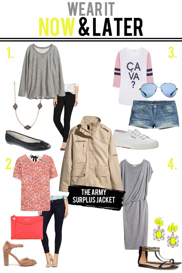 jillgg's good life (for less)   a style blog: the army surplus jacket: wear it now and later!