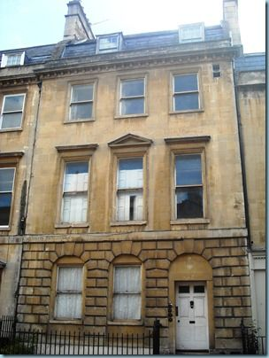 1 The Paragon in Bath where Mr Leigh Perrot, Mrs Austen's brother lived. Jane stayed here with her mother in 1801 whilst house-hunting in Bath for the move from Steventon