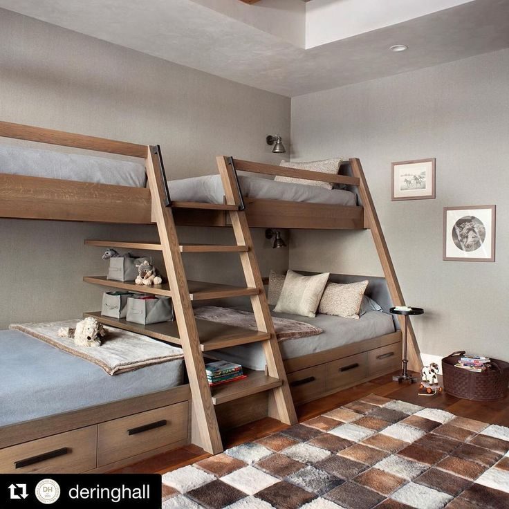 У Вас четверо детей? -Не беда!!!  #мебель #дети #интерьер #Repost @deringhall with @repostapp ・・・ Kids x Yellowstone Club, MT. #DHDesignImage: @lisa_kanning_interior_design