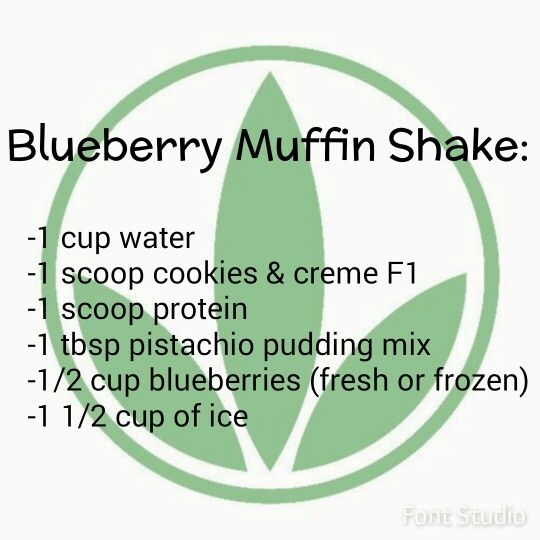 Blueberry Muffin Herbalife Shake