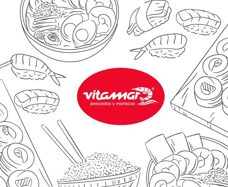 Vitamar tiene una gran variedad de pescados y mariscos para que pintes tus platos con los mejores sabores y colores del mar. #FelizViernes