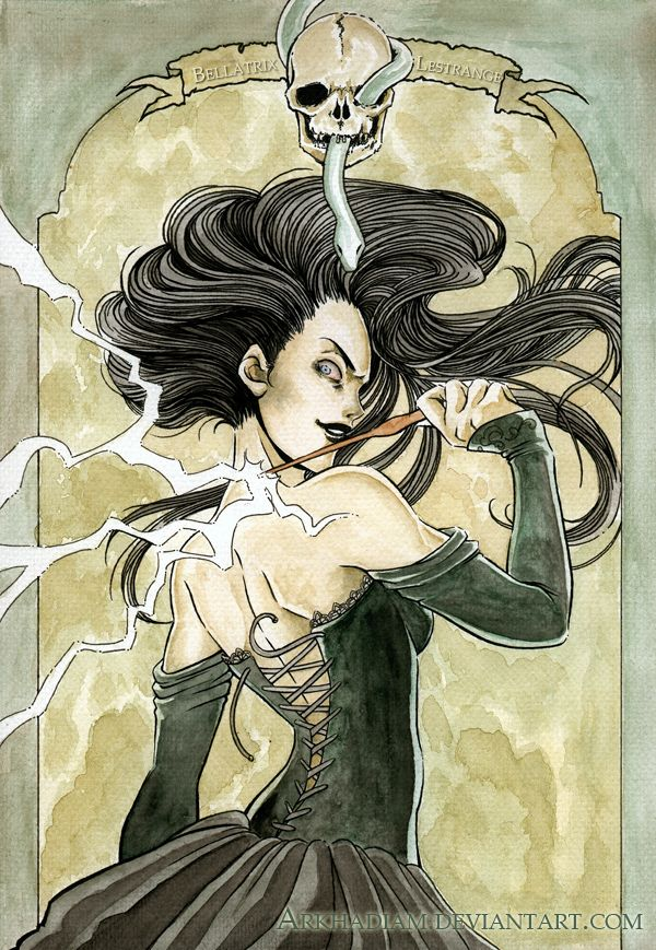 HP: Bellatrix Lestrange by ~Arkhadiam on deviantART