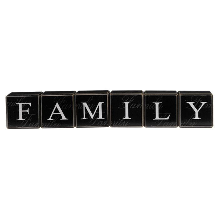 Family Block Decor Set