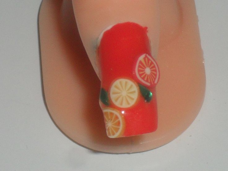 Fimo fruit and bright summery colour yummy