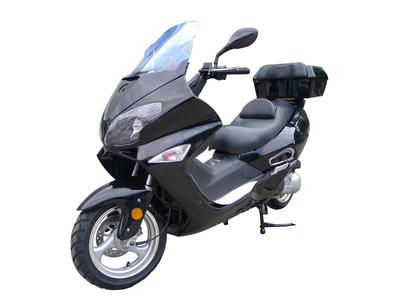 "SCO074 250cc Scooter Automatic Transmission,WaterCooled, Front/Rear Disc Brakes, 13"" Aluminum Wheels, Windshield, Metallic Paint $2199.00"