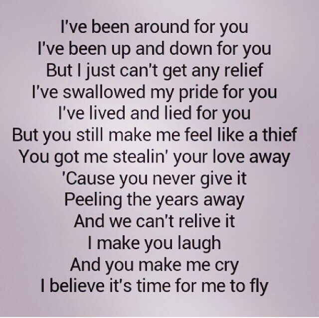 "REO Speedwagon ""Time for me to Fly "" love this song and the lyrics... Ahh, 80's songs!"